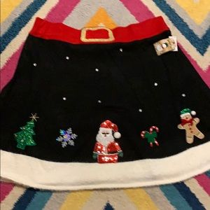 NWT Women's 3X Christmas Santa Sweater Skirt